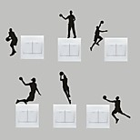 AYA™ Set of 6 DIY Creative Basketball Switch Stickers Wall Decor
