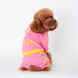 Dog Clothes/Clothing Black / Pink Winter Letter & Number Keep Warm, Dog Clothes / Dog Clothing