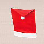 1pc Universal Christmas Santa Red Cap Chair Cover Decoration Home Dining Table Dinner