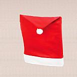 1pc universel noël père chaise bonnet rouge table de couverture décoration maison de salle à dîner