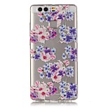 Floral Fit Pattern Strong Relief Feel Painted TPU Soft Case Cover For Huawei P9