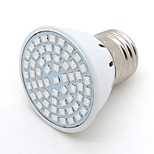 LED Grow E27 9W Bulb Light AC 220V 60SMD Indoor Plants Lamp For Flower Seedling Hydroponic System Tent  Red+blue 1pcs