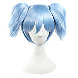 Perruques de Cosplay Assassinat de classe Cosplay Bleu Court Anime Perruques de Cosplay 25 CM Fibre synthétique Masculin