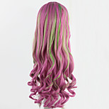 My Little Pony Cosplay Wigs Pink Anime Curly Wigs Long Wavy Girl Synthetic Wigs 70CM Festive Party Peruca