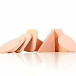 Keqi ®  4 Round+ 4 Triangle + 4 Square NBR Material Foundation Puff Sponge Wet/Dry Use