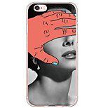 Sexy Lady Pattern TPU Ultra-thin Translucent Soft Back Cover for Apple iPhone 6s Plus/6 Plus/ 6s/6/ SE/5s/5