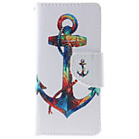 Anchor Pattern PU Leather Full Body Case with Stand and Card Slot for iPhone 6s Plus/6 Plus/6s/6