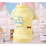 Dog Shirt / T-Shirt Pink / Yellow Spring/Fall Cartoon Casual/Daily, Dog Clothes / Dog Clothing