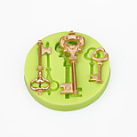 Cake Decorations Mould Baroque Vintage Style Keys Silicone Mold Chocolate Polymer Clay Candy Making Sugarcraft Tools