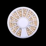 1 Box The New DIY Binding Flat  White Pearl(Diameter:0.4CM)