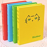 Creative Stationery Cat Face Hollow Pocket Notebook Graffiti