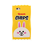 3D Rabbit Chip Silicone Case for iPhone5/5S/SE for iPhone 6s/6/6s Plus/6 Plus