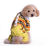 Dog Clothes/Clothing Blue / Yellow Winter Floral / Botanical Keep Warm, Dog Clothes / Dog Clothing