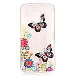 Butterfly Pattern TPU Relief Back Cover Case for Moto G4 Play
