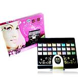 Edith Makeup Compact 48 Color Eye Shadow Powder 3 Color 4 Color 4 Color Lipstick Red Fine Linen