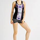 MIDUO Women's Comfortable Yoga / Running Vest Black-YDQ 013