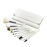10 Makeup Brushes Set Goat Hair Portable Wood Face ShangYang(Brush Package)