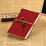 Vintage Leather Cover Notepad Notebook Creative Bronze Key Tying