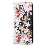 Rhinestone Bling Leather Case For Apple iPhone 6S Plus/6S/6 Plus/6/5S/5 Flip Cover Print Flower