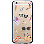 Para Funda iPhone 6 / Funda iPhone 6 Plus Transparente / Diseños Funda Cubierta Trasera Funda Dibujos Suave TPU AppleiPhone 6s Plus/6