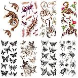 16 Designs Waterproof Temporary Tattoos Sticker Animal Pattern for  Body Art Beauty Tattoo 24cm*9.5cm (Assorted Pattern)