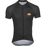 Deportes Bicicleta/Ciclismo Tops Hombres Mangas cortasTranspirable / Secado rápido / Cremallera delantera / Sin costura / Suave / Cómodo