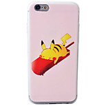 Pikachu 2 Pattern Material TPU Phone Case For iPhone 6s/6/6s Plus/6 Plus