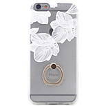 PC+TPU Material Three Flowers Frosted Relief Bracket Phone Case For iPhone 6s/6/6s Plus/6 Plus