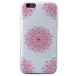 HD Corners Painted Red With Floral Pattern Material TPU Phone Case For iPhone SE 5s 5 6s 6 6s Plus 6 Plus