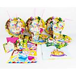 Disney Princess 92pcs decorações da festa de aniversário crianças evnent fontes do partido decoração do partido 12 pessoas usam