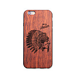 Natural Wood Indian Ultra Thin Protective Back Cover iPhone Case for iPhone 6S Plus/6 Plus/6S/6