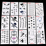30Pcs Disposable Fancy Tattoo Stickers with Many Different Pattern Mixed