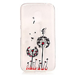 Dandelion Pattern TPU Relief Back Cover Case for Moto G4 Play
