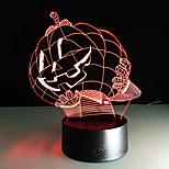 táctil 1pc 3 d condujo cambio lámpara de escritorio atmósfera regalo luz colorida lámpara de la visión del color la noche