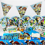 Luxury Toy Story 78pcs Birthday Party Decorations Kids Evnent Party Supplies Party Decoration 6 People use