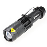 携帯式フラッシュライト Laser 3 モード 1000(lumens) ルーメン 防水 その他 / LED 18650 キャンプ/ハイキング/ケイビング / 日常使用-その他,ブラック / アンティーク真鍮 アルミ合金