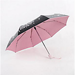 Folded Umbrella Rain Falling Sakula Female Small Fresh Cherry Umbrella Automatic Umbrella Parasol Ultralight