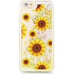 Sunflowers Back Flowing Quicksand Liquid/Printing Pattern PC Hard Cover For iPhone 6s Plus/6 Plus/6s/6/SE/5s/5