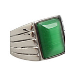 Men's Titanium Steel / Opal Ring Emerald Noble Party / Daily / Casual 1pc Statement Rings