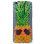 Pineapple Glasses Daisy Pattern Painted Transparent TPU Material Phone Case for iPhone 5c/5/5S/SE/6/6S/6 Plus/6S Plus