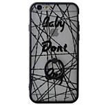 espalda Soporte para Anillo / Esmerilado / Traslúcido / Diseño Flor PC Duro Ring Holder+3D Relief+Translucent Cubierta del caso para Apple