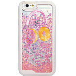 Back Flowing Pattern Food PC Hard Flowing Quicksand Liquid Case For Apple iPhone 6s Plus/6 Plus/6s/6/5s/5/SE