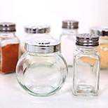Household Kitchen Bilayer Green Glass Cruet Condiment Bottles (Random Style)