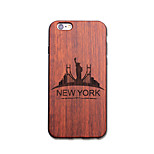 Natural Wood New York Ultra Thin Protective Back Cover iPhone Case for iPhone 6S Plus/6 Plus/6S/6