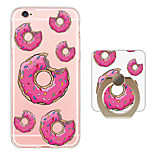 Donuts Pattern Ring Holder Ultra-thin Translucent Soft TPU Back Cover for iPhone 6s Plus/6 Plus/6s/6/SE/5s/5