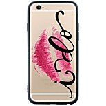Sexy Lips Device Back Cover Dustproof/Pattern Word/Phrase Soft TPU Cover for Apple iPhone 6s Plus/6 Plus/6s/6/SE/5s/5