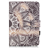 PU Leather Material Half Flower Embossed  Pattern Tablet Sleeve for iPad mini 1 / 2 / 3