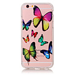 TPU Material Butterfly Pattern Painted Relief Phone Case for iPhone 6s Plus / 6 Plus/SE / 5s / 5