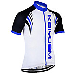 KEIYUEM Cycling Jersey/ Tops Unisex Short Sleeve/ Breathable / Quick Dry / Rain-Proof /Waterproof Zipper#K183