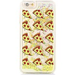 Pizza Back Flowing Quicksand Liquid/Printing Pattern PC Hard Case For iPhone 6s Plus/6 Plus/6s/6/SE/5s/5
